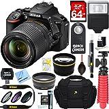 Nikon D5600 24.2MP DX-Format DSLR Camera + AF-S 18-140mm f/3.5-5.6G ED VR Lens + Accessory Bundle