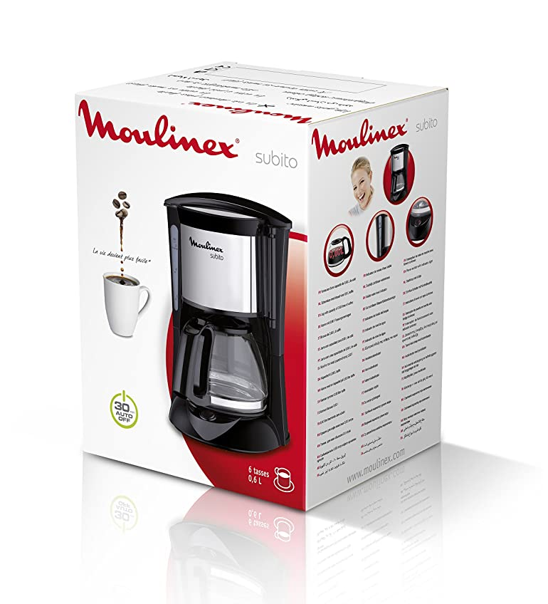 Moulinex FG150813 Subito coffee machine with 6 Cups Black ...