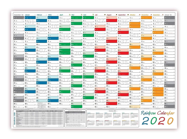 Rainbow - Calendario de pared/pared Agenda 2016 - Plegado ...