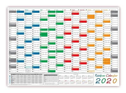 Rainbow - Calendario de pared/pared Agenda 2016 - Formato ...