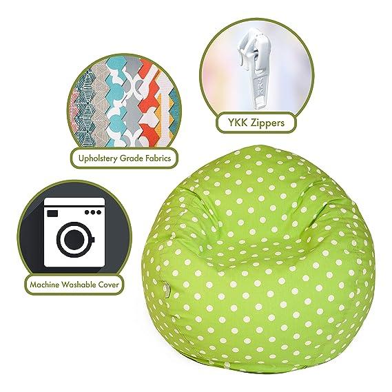 Amazon.com: Majestic Home Goods – Puf clásico – Mini lunares ...