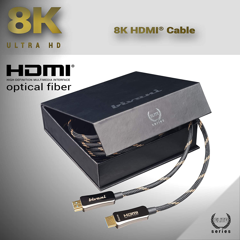 Dynamic HDR 10m eARC ottico bivani 8K Cavo HDMI in fibra ottica Dolby Vision fino a 10K // 8K@60HZ // 4K@120HZ Ibrido AOC Elite-Series 10 metri 48 Gbps