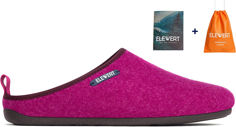 Suela de Caucho ELEWERT/® Zapatillas de Estar por casa Exterior Natural Unisex Interior Hechas en Espa/ña Plantilla extra/íble reciclada -Designed IN Europe Confort Tallas de la 37 a la 47