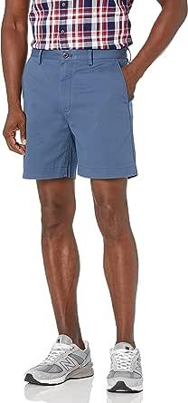 Amazon Essentials Hombre Pantalón corto chino con tiro de 18 cm