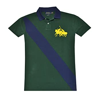 Match Men's Polo Fit Pony Ralph Custom Lauren wmN80n