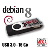 Debian 8 Live - AIO (all in one) - 32 & 64 bits - Clé USB 3.0 - 16 Go
