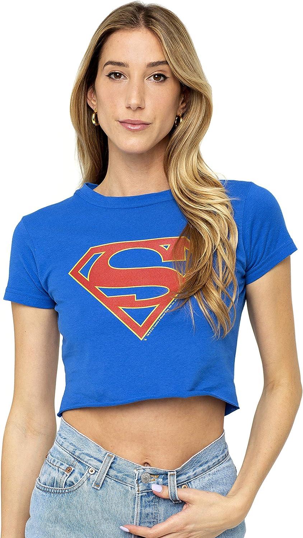 Supergirl TV Symbol Women/'s T-Shirt Blue