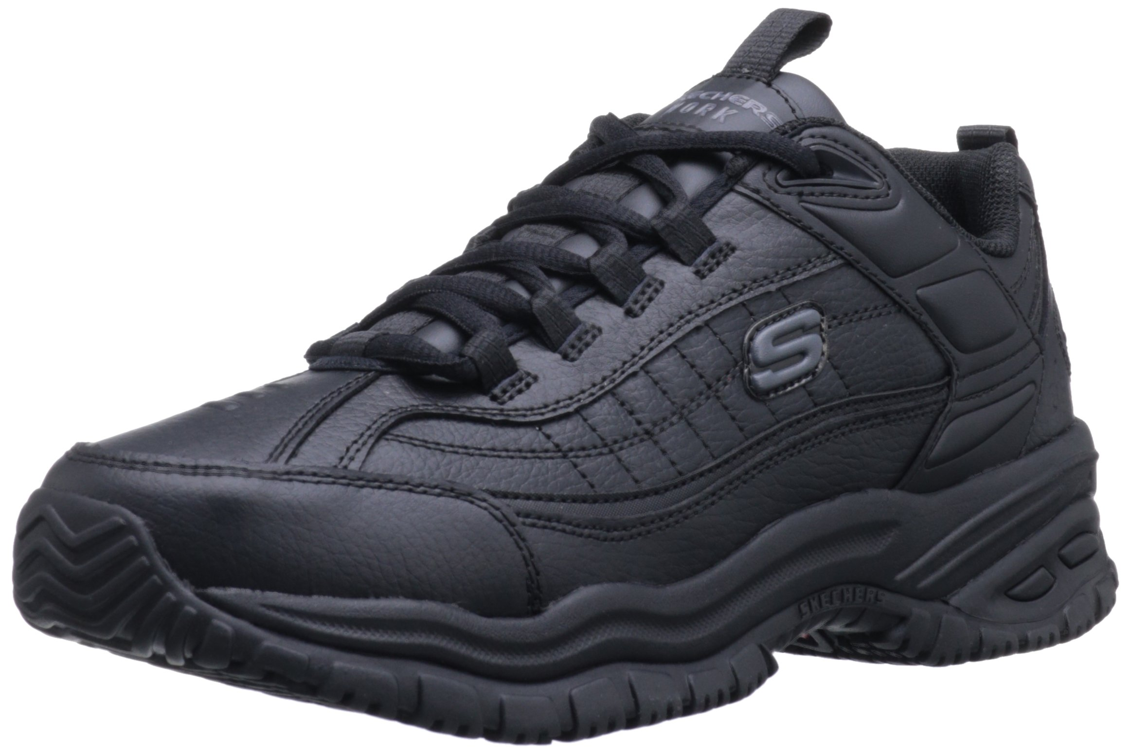 Skechers for Work Men's Soft Stride Galley, Black, 9.5 D(M) US