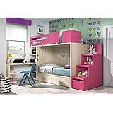 Ambiato Dynamic24 Vita 48 Lit Mezzanine Avec Espace De Rangement Pour 2  Enfants, Coloris Au