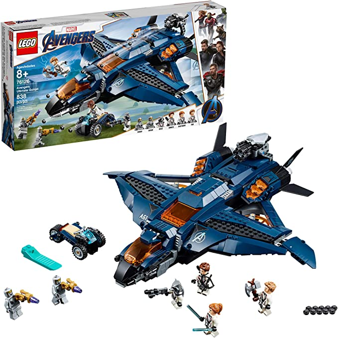 LEGO Marvel Avengers: Avengers Ultimate Quinjet 76126 Building Kit (838 Pieces) | Amazon
