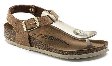 0d24dac27 Birkenstock Girls  Thong Sandals Brown Metallics Gold Brown Brown Size  ...