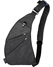 Toupons Sling Backpack Shoulder Chest Crossbody Bag Lightweight Casual Outdoor Sport Travel Hiking Multipurpose Anti Theft Cross Body Back Pack Bags Up to 7.9 Inch Tablet for Men Women