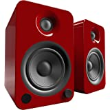 Kanto YU4 Powered Bookshelf Speakers with Bluetooth® and Phono Preamp (Gloss Red)