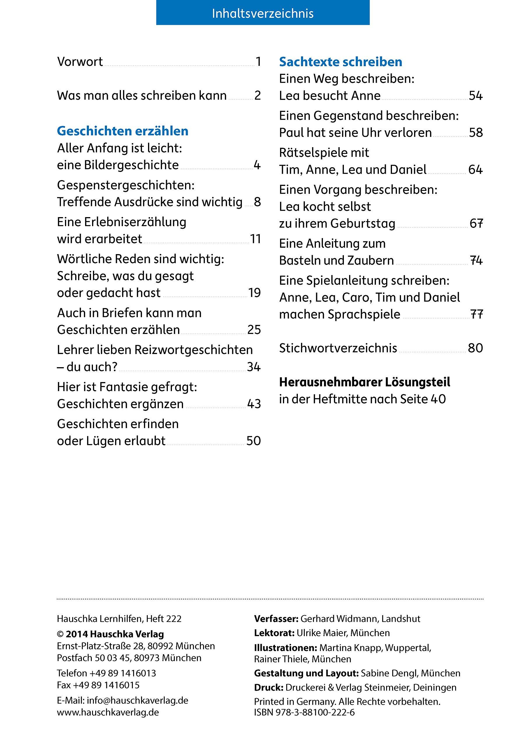 aufsatz deutsch 3 klasse amazonde gerhard widmann martina knapp rainer thiele bcher - Erlebniserzahlung Beispiel