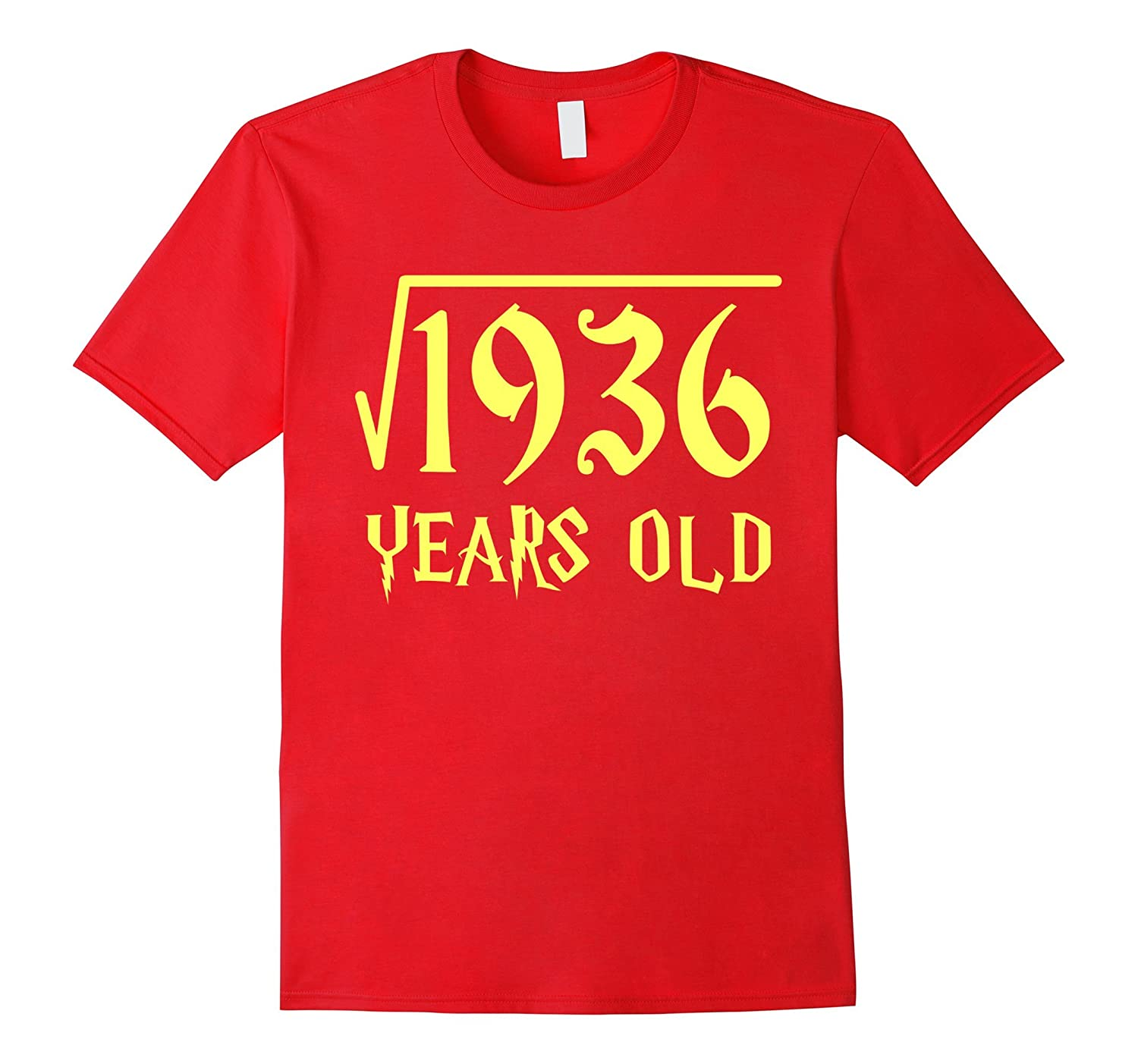 Square Root of 1936 44 Years Old 44th Birthday T-Shirt-CL