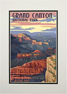 product image for Grand Canyon National Park, Arizona - Mather Point (11x14 Double-Matted Art Print, Wall Decor Ready to Frame)