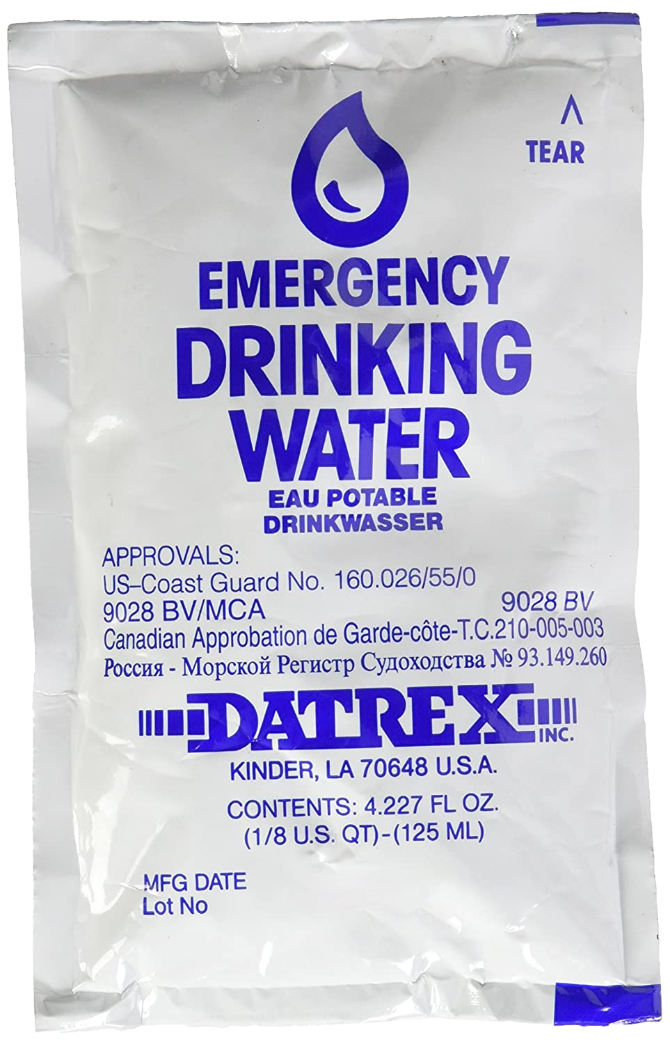 ead83db4dcc1 Amazon.com  DATREX Emergency Water Pouch for Disaster or Survival ...