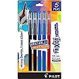 PILOT FriXion - Palillos de colores borrables, Negro/Azul/Rojo, Paquete de 5