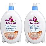 Poupina - Hygiène et Soin Bébé - Gel Lavant Surgras Corps & Cheveux - 750 ml - Lot de 2