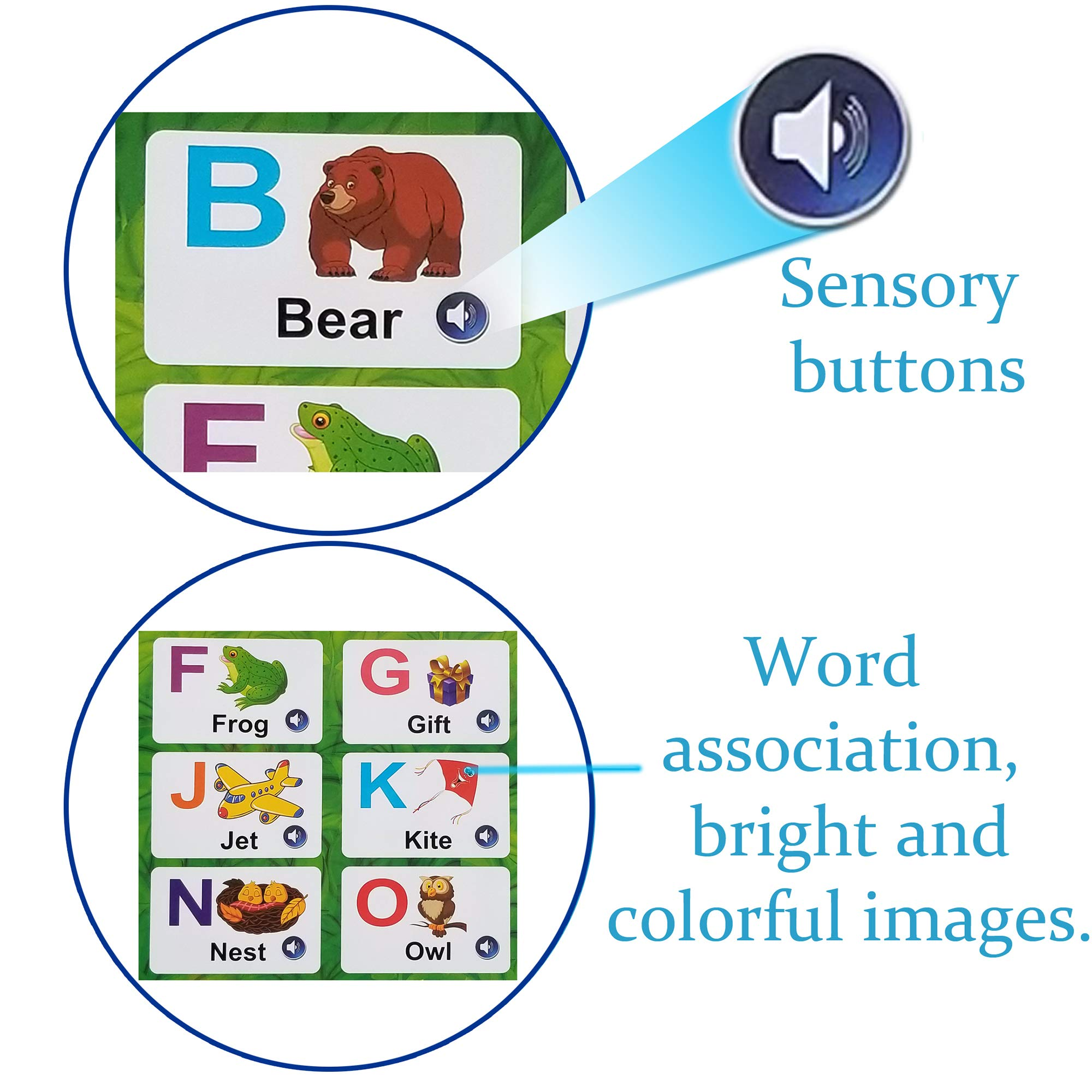 Just Smarty Electronic Interactive Alphabet Wall Chart with Shapes, Colors and Spelling, Talking ABC & 123s & Music Poster, Best Educational Toy for Toddler. Kids Fun Learning at Daycare, Preschool by Just Smarty (Image #2)