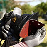"""TECCPO Mouse Detail Sander, 1/4"""" 1.1 Amp/14,000 OPM Sander, 12Pcs Sandpapers, Recyclable Dust Bag, Dust Collection System, Ideal for Sanding-TAMS22P"""