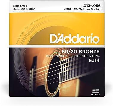 D/'Angelico 054 Einzelsaite 80//20 Bronze Wound Westerngitarre
