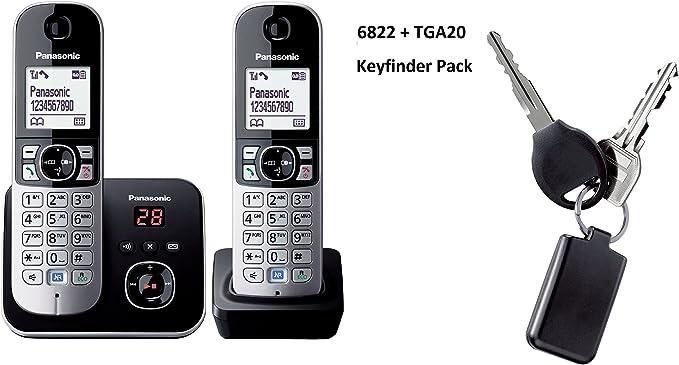Panasonic KX-TG6822 – Teléfono inalámbrico DECT con contestador automático Keyfinder Pack: Amazon.es: Electrónica