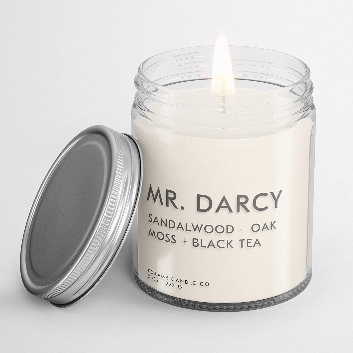 MR. DARCY Book Lovers' Candle | Book Scented Candle | Vegan + Cruelty-Free + Phthalte-Free