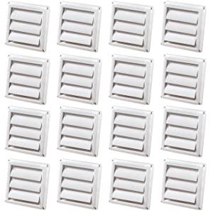 (16 Pack) - DEFLECTO HS4W SUPURR- 4 INCH VENT REPLACEMENT HOOD - WHITE