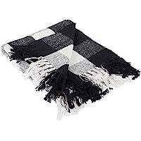 DII Collapsible Polyester Storage 100% Cotton Buffalo Check Throw