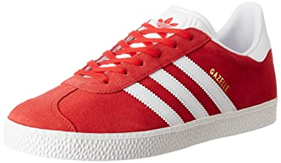 info for 07ab3 77eeb adidas Gazelle J, Scarpe da Ginnastica Basse Unisex-Bambini, Rosso (Scarlet