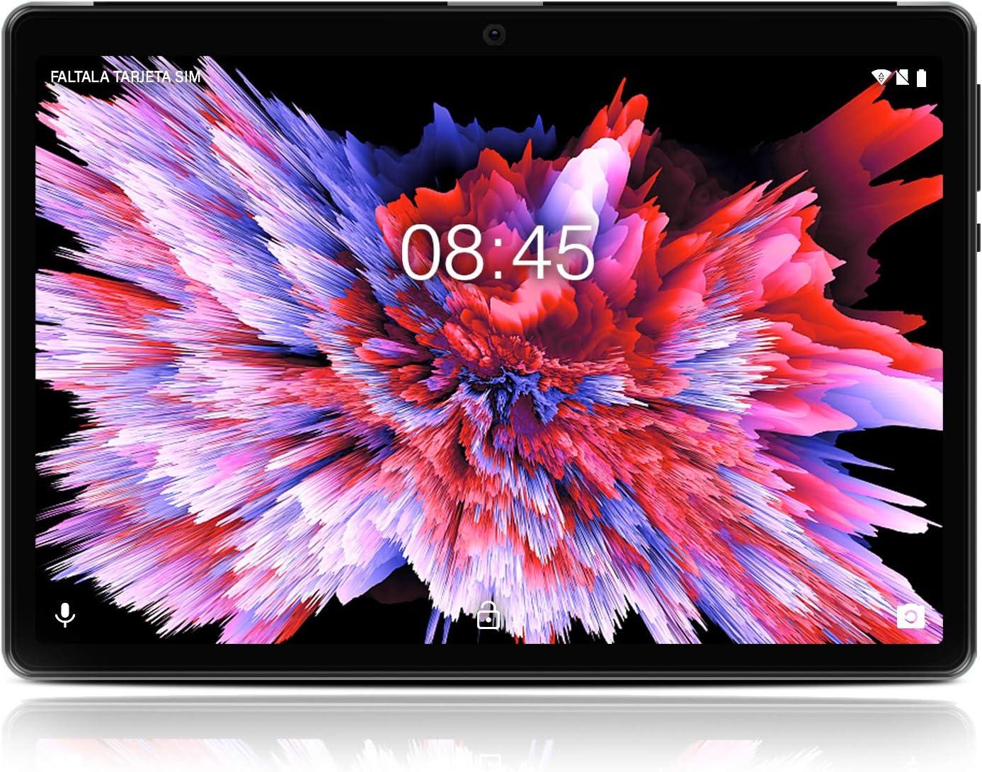 Tablet 10 Pulgadas Android 10.0 - MEBERRY Ultrar-Rápido Tableta 4GB RAM+64GB ROM - Certificación Google gsm - Dual SIM - 8000mAh |WI-FI|Bluetooth|GPS| Type-C Tablet (5.0+8.0 MP Cámara) -Gris