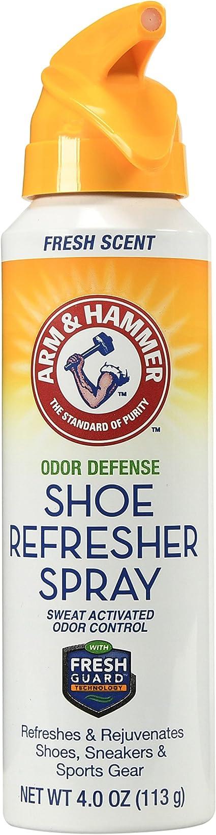 Arm & Hammer Odor Defense Shoe Refresher Spray, Fresh Scent, 4 oz