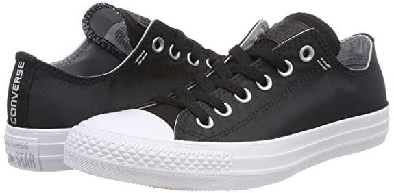 Unisex Kids Chuck Taylor CTAS Ox Textile Fitness Shoes, Black (Black/Wolf Grey/White 064), 3.5 UK Converse