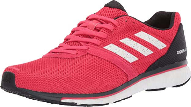 adidas Men's Adizero Adios 4, active pink/white/carbon, 6.5 M US