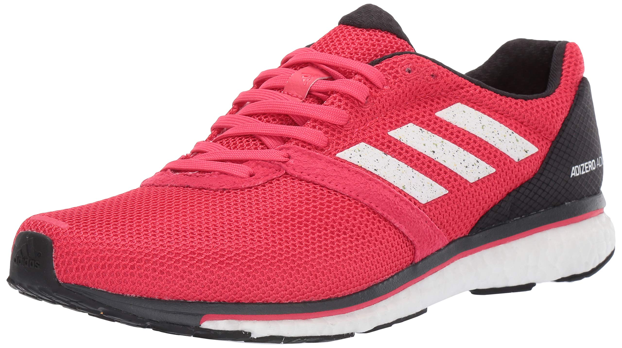 adidas Men's Adizero Adios 4, Active Pink/White/Carbon, 11 M US by adidas