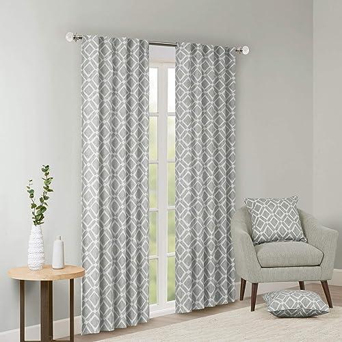 Single Piece Ella Grey 95 Inch Curtain Panel