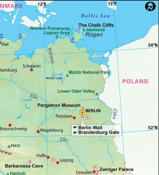 Alemania mapa – LAMINADO (36