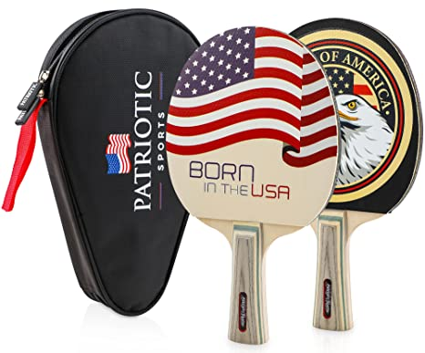 Amazon.com : Standard Size Table Tennis Paddle Set | High ...