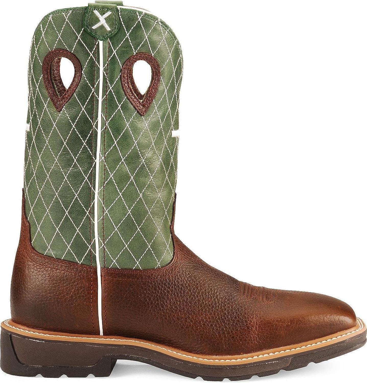 Twisted X Mens Lite Cowboy Cherry Work Boot
