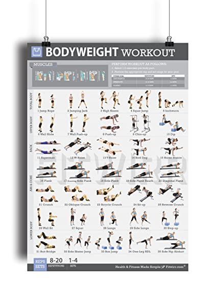 Amazon Bodyweight Exercise Poster