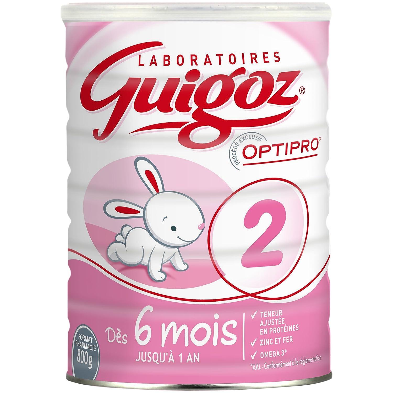 GUIGOZ 2 - Lait infantile 2ème âge en poudre - de 6 à 12 mois - 800g - Lot de 3 boîtes de 800g 8615