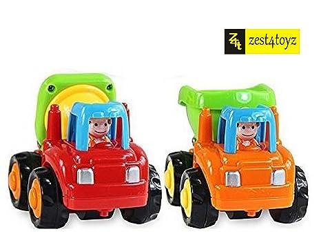 Zest 4 Toyz Kid's Unbreakable Automobile Construction Machine Car Toy (Multicolour) - Set of 2 Toy Vehicle Playsets at amazon