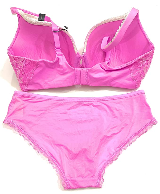 8689de432c4c Victoria's Secret Body Perfect Shape 34D Bra Set with Matching Hiphugger  Panty Small Lilac at Amazon Women's Clothing store: