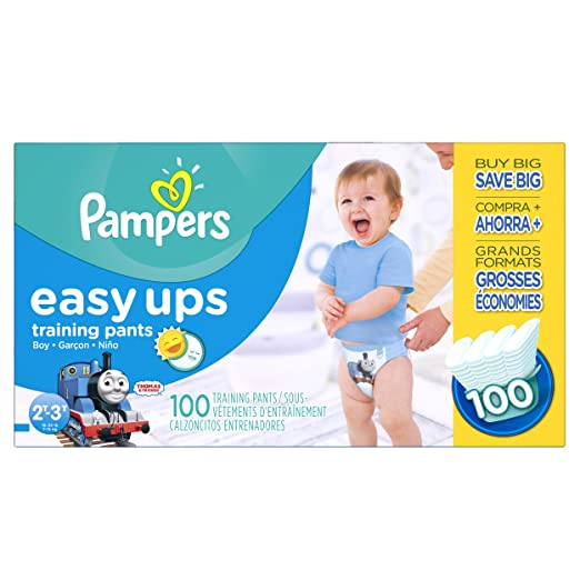 Pampers Boys Easy Ups Training Underwear, 2T-3T (Size 4), 100 Count (Old Version)