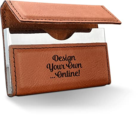 Amazon design your own leatherette business card holder design your own leatherette business card holder single sided personalized colourmoves