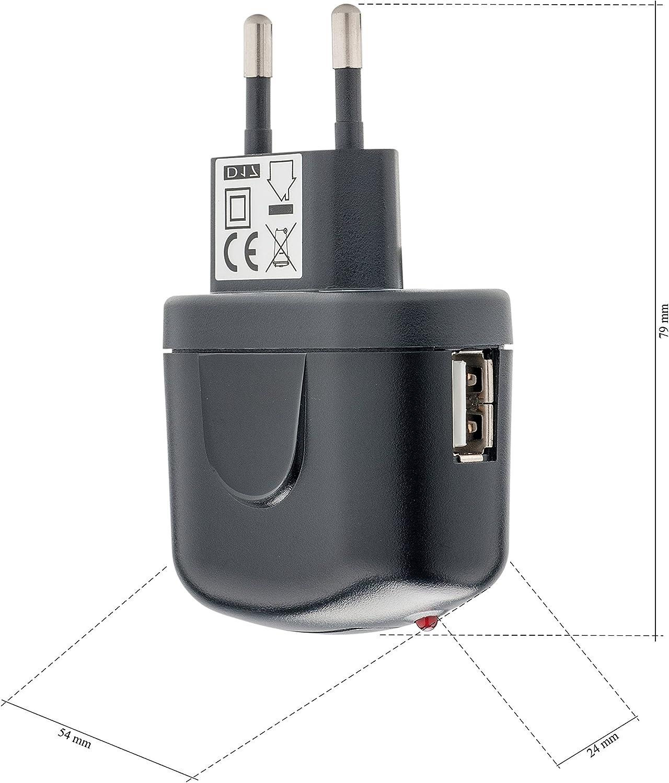 S10 A40 S10e Chargeur Voyage Chargeur Ultra Slim Slabo Chargeur Adaptateur Secteur AC//USB pour Samsung Galaxy A20e S10+ A41 S10 Plus S10 Lite A70 A30 A50 Noir