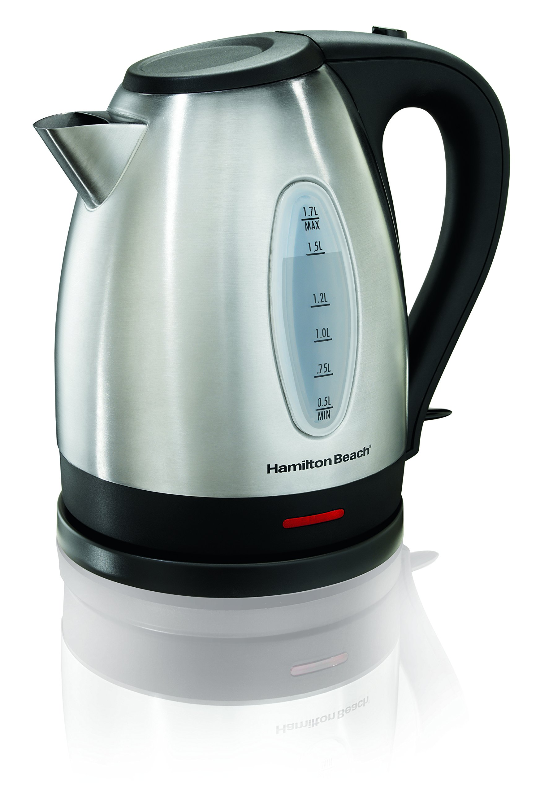 Hamilton Beach 40880C Electric Kettle, 1.7 L, Stainless Steel/Silver