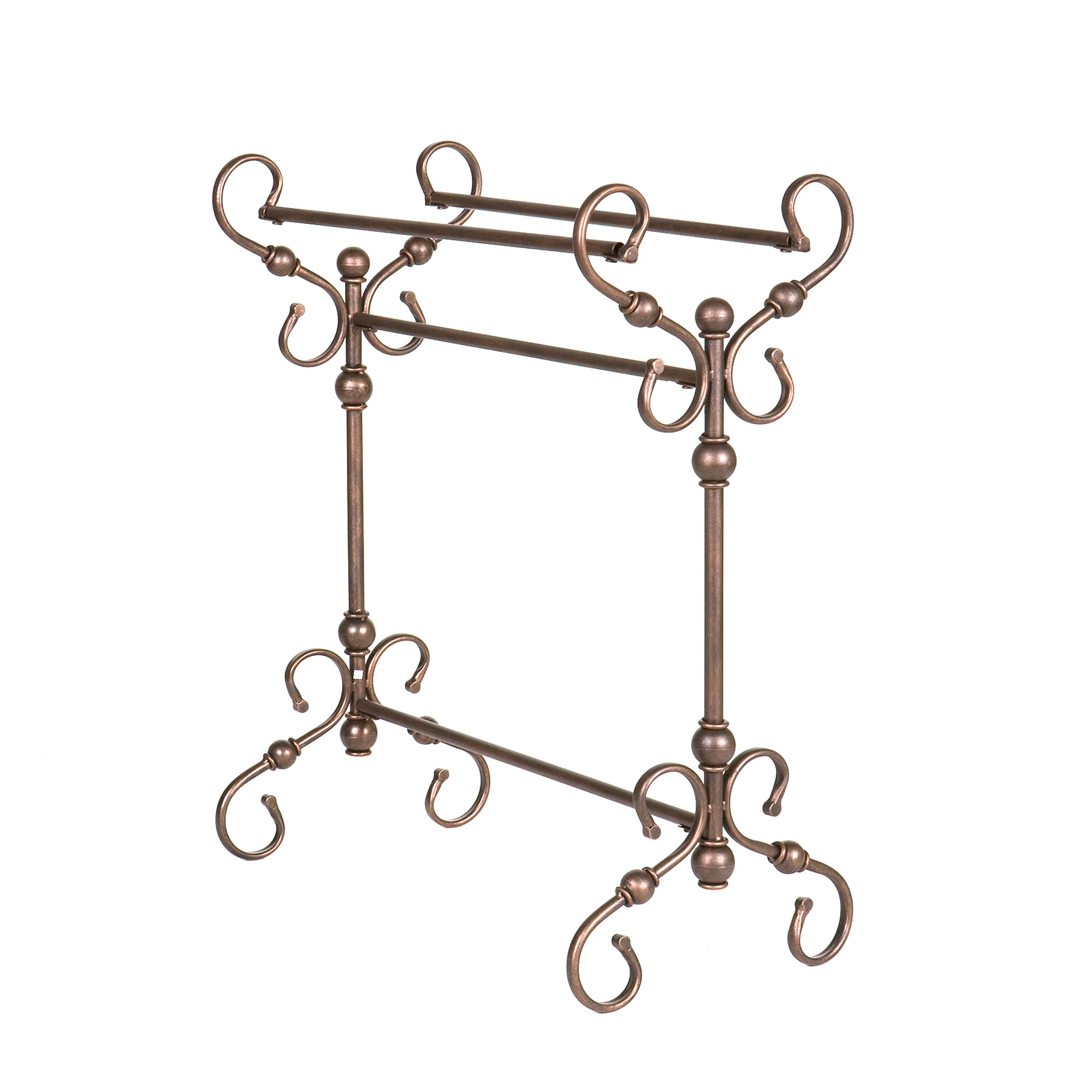 Lourdes Blanket Rack - Metal Scroll Work w/ Antique Bronze Finish - Traditional Style by Southern Enterprises (Image #4)