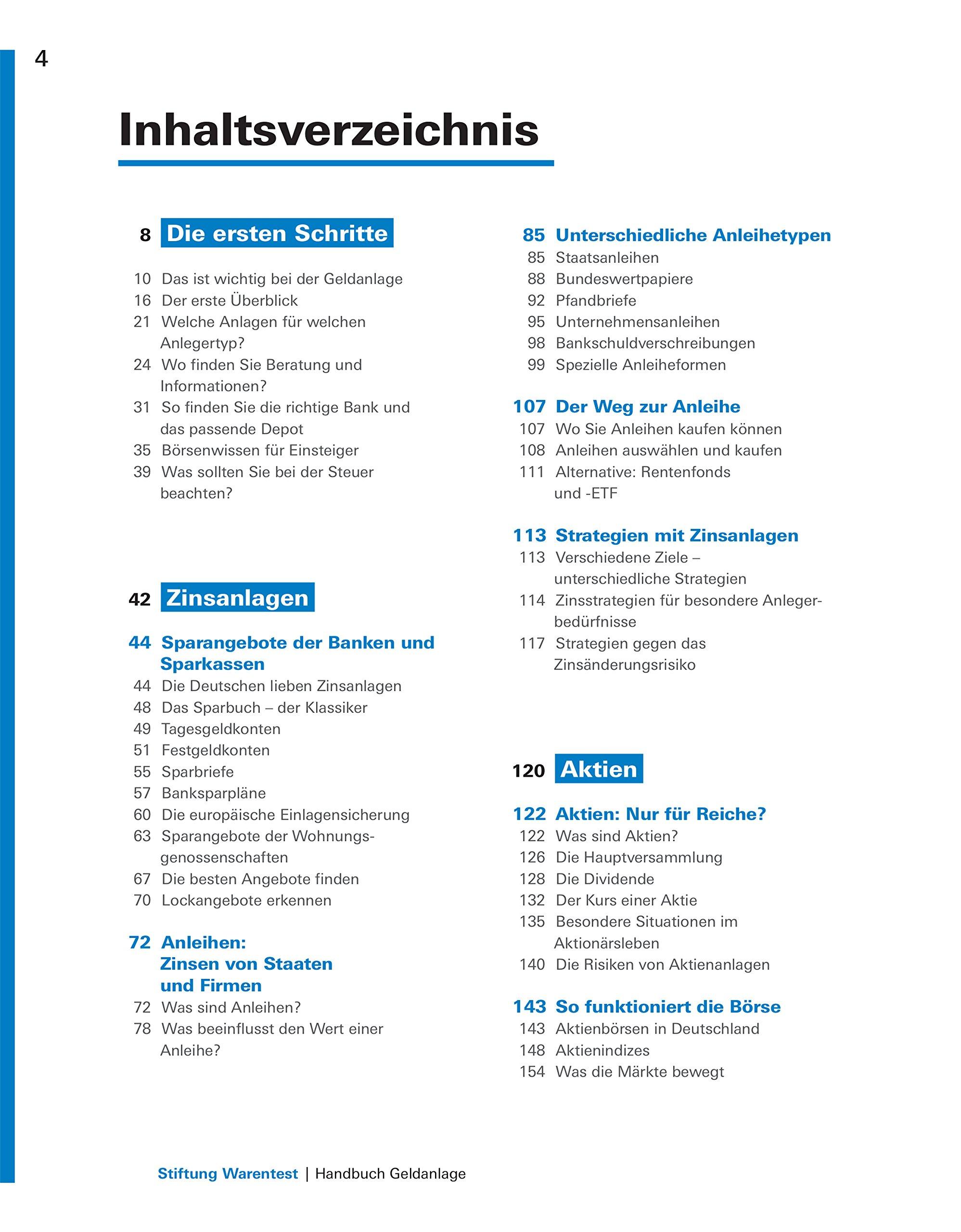 Handbuch Geldanlage Aktien Fonds Anleihen Festgeld Gold Und Co